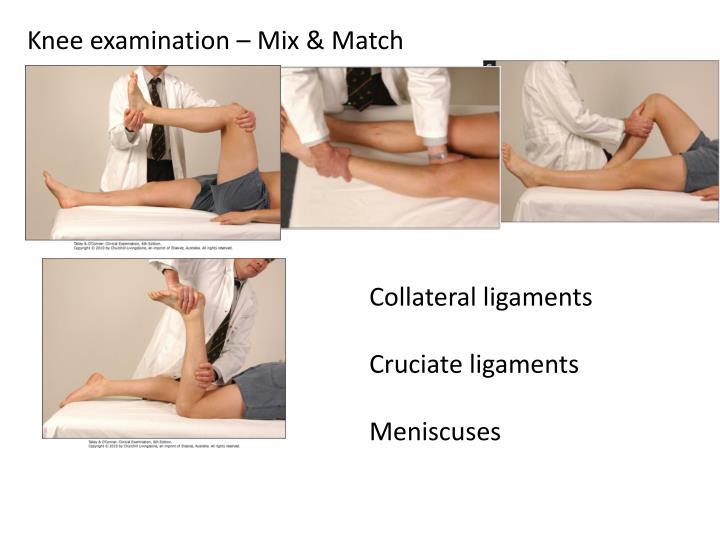 Knee examination – Mix & Match