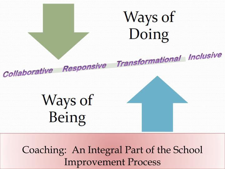 Coaching:  An Integral Part of the School Improvement Process