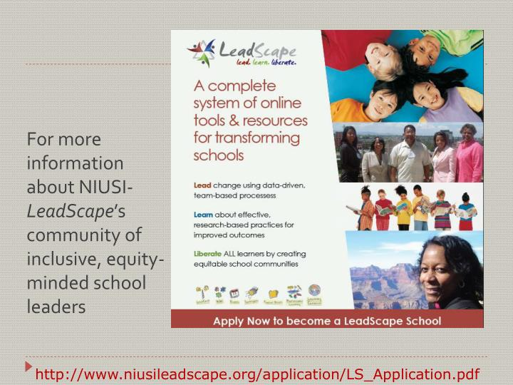 For more information about NIUSI-