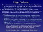 higgs factories