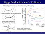 higgs production at e e colliders
