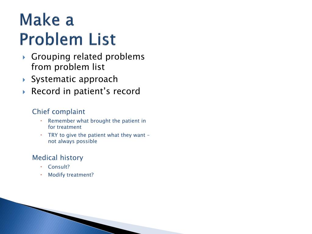 PPT - Make a Treatment Plan PowerPoint Presentation - ID:1872555
