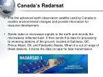canada s radarsat
