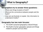 what is geography2
