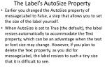 the label s autosize property