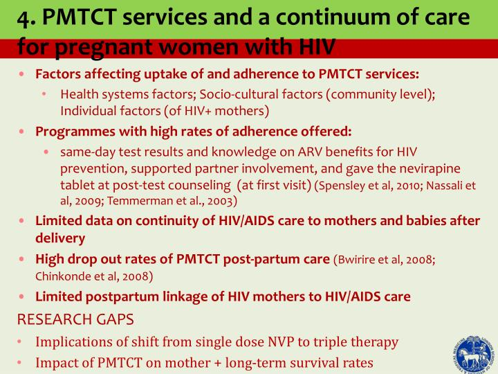 Factors affecting uptake of and adherence to PMTCT services: