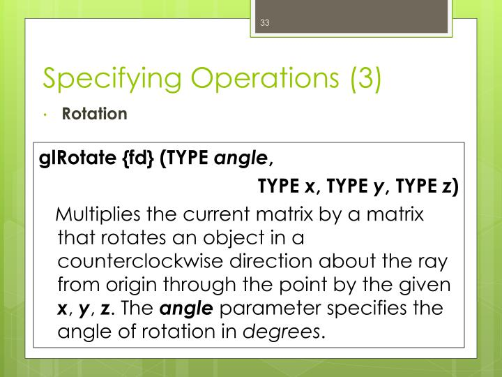 Specifying Operations (3)