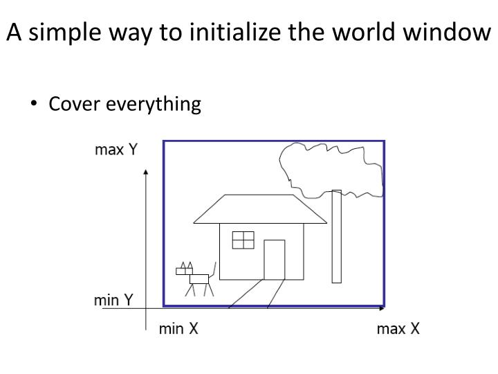 A simple way to initialize the world window