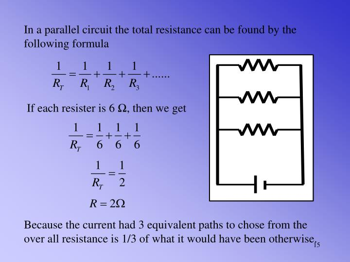 In a parallel circuit the