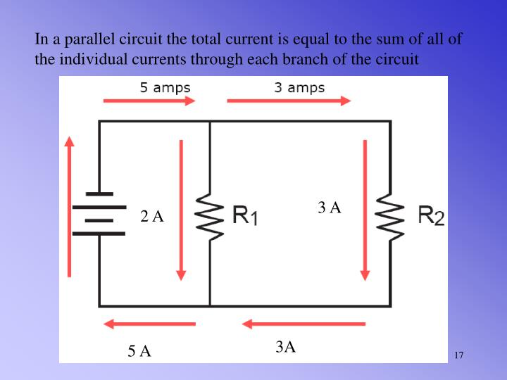 In a parallel circuit the total