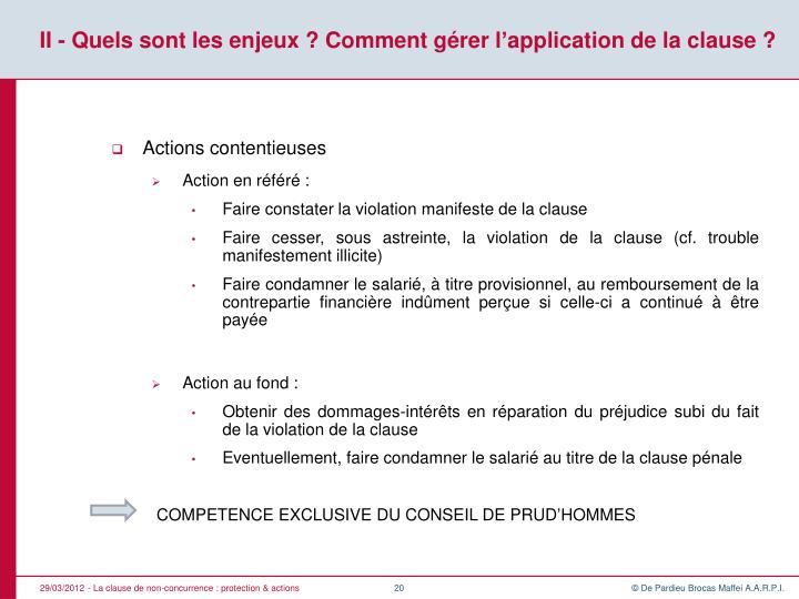 Ppt La Clause De Non Concurrence Protection Actions En Droit