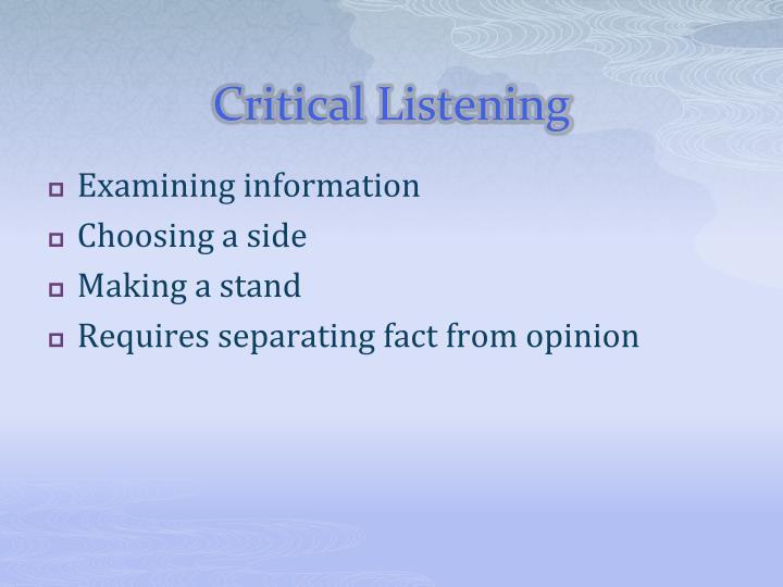 Critical Listening