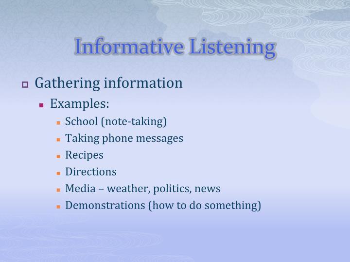 Informative Listening