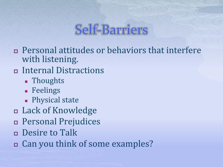 Self-Barriers