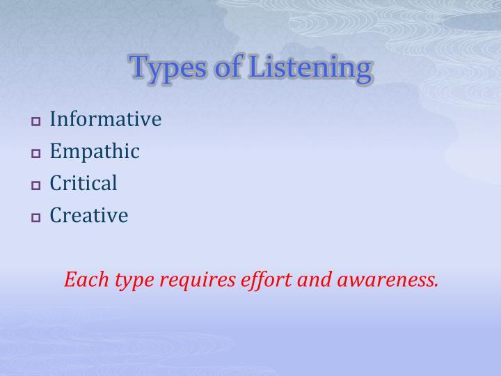Types of Listening