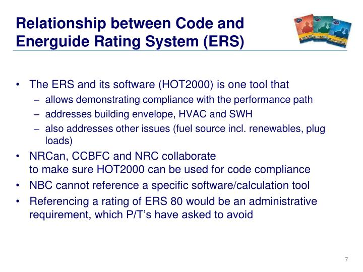 Relationship Between Code And Energuide Rating System ERS