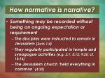 how normative is narrative1