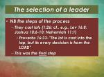 the selection of a leader3
