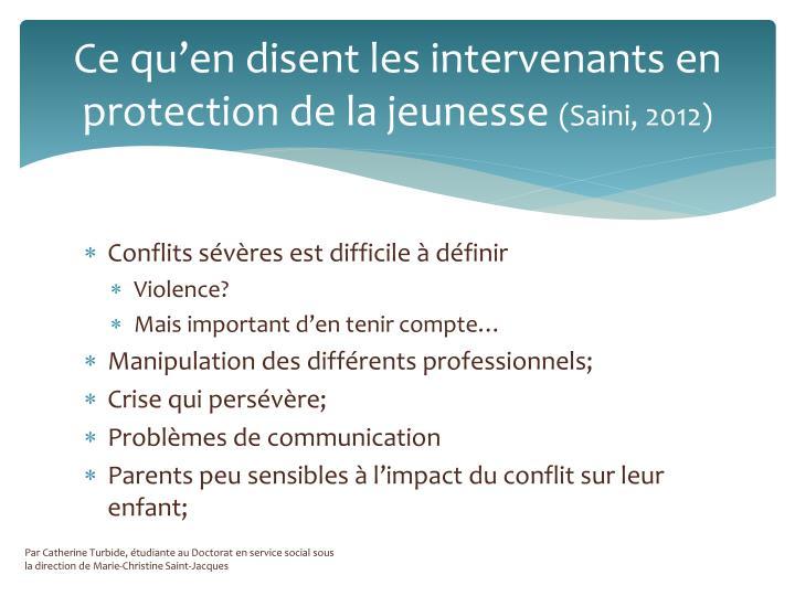 Ce qu'en disent les intervenants en protection de la jeunesse