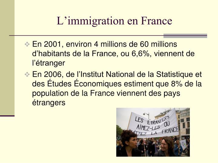 L immigration en france1