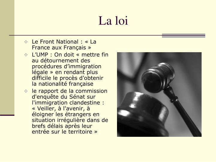 La loi