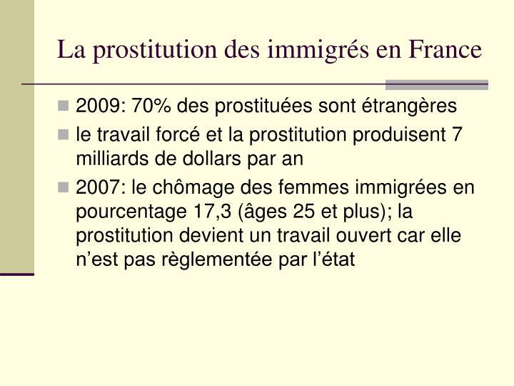 La prostitution des immigr