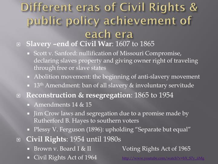 music of the civil rights era essay In the mid 1950's to the late 1960's the civil rights movement was a struggle to african americans to accomplish civil rights equal to whites, involving equal chances in employment, housing, and education, as well as the right to vote, the right of equal access to public facilities, and the right to be free of racial discrimination.