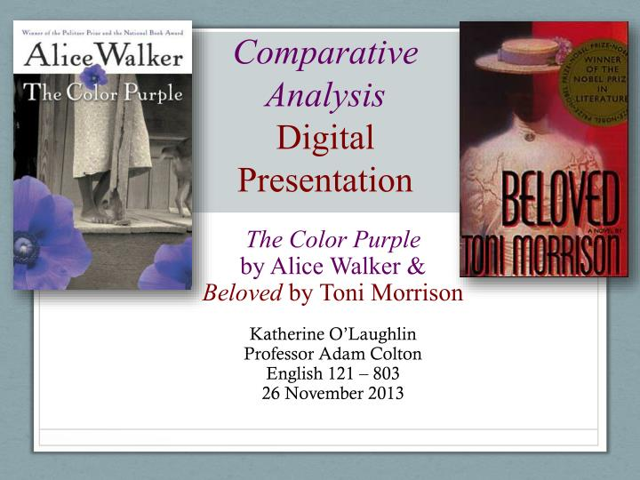 an analysis of alice walkers the color purple Alice walker, 1944-, african-american novelist and poet, b eatonon, ga the daughter of sharecroppers, she studied at spelman college (1961-63) and walker won wide recognition with her novel the color purple (1982 pulitzer prize film, 1985), a dark but sometimes joyous saga of a poor.