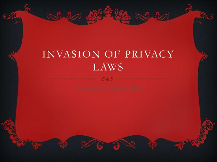 invasion of privacy laws n.