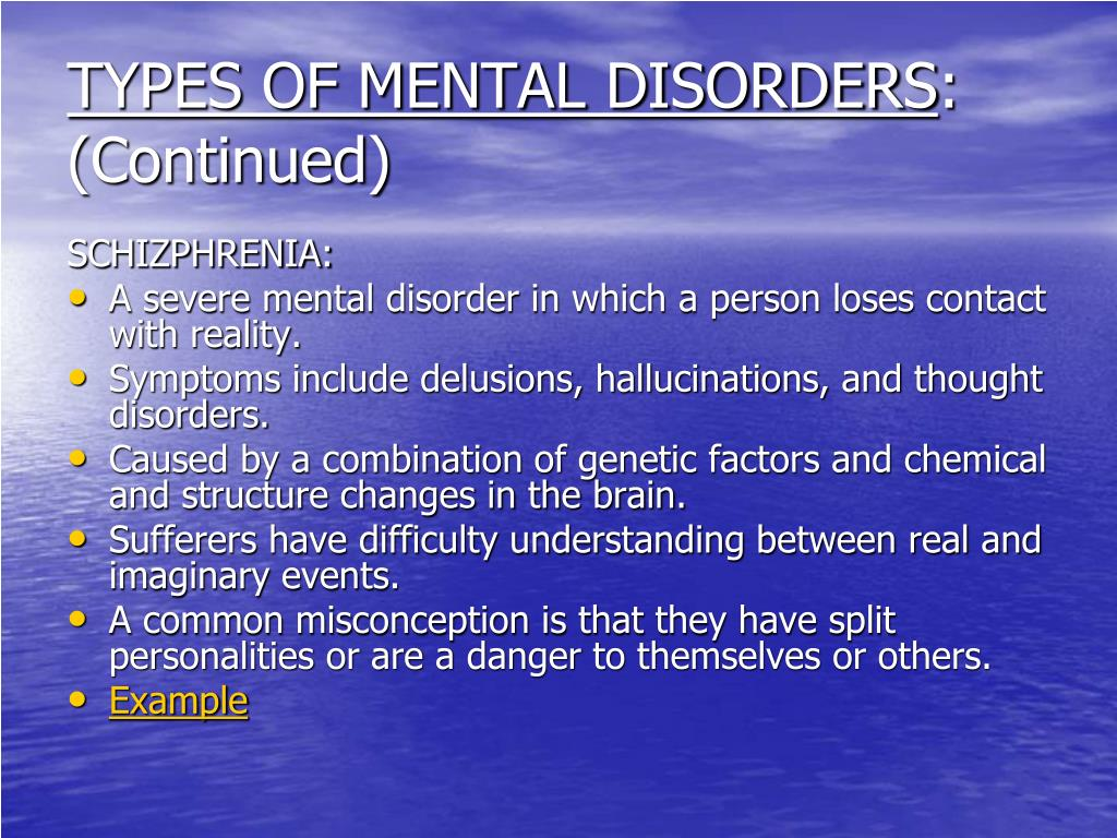 PPT - CHAPTER 9: MENTAL AND EMOTIONAL PROBLEMS PowerPoint ...