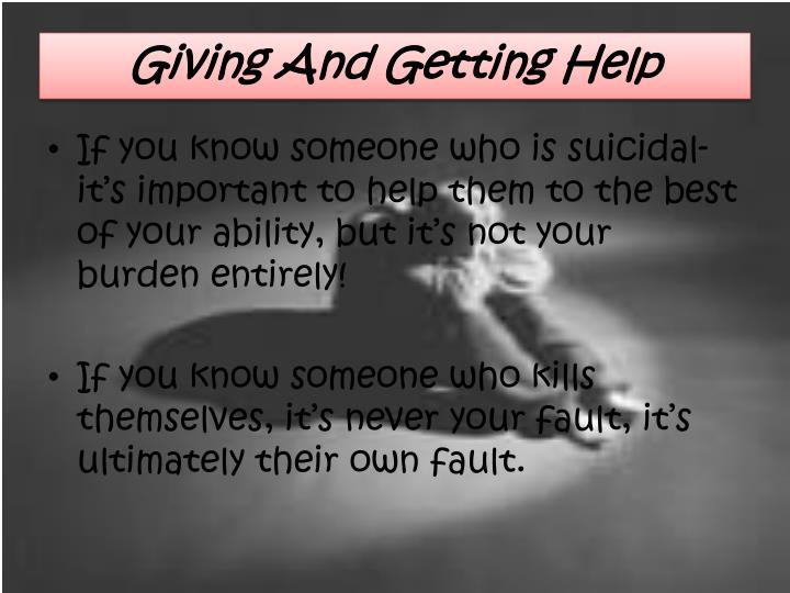 Giving And Getting Help