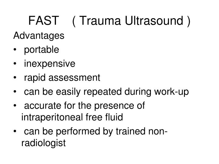 FAST( Trauma Ultrasound )