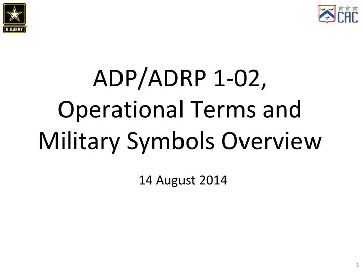 Ppt Adpadrp 1 02 Operational Terms And Military Symbols Overview