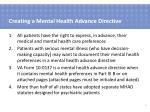 creating a mental health advance directive
