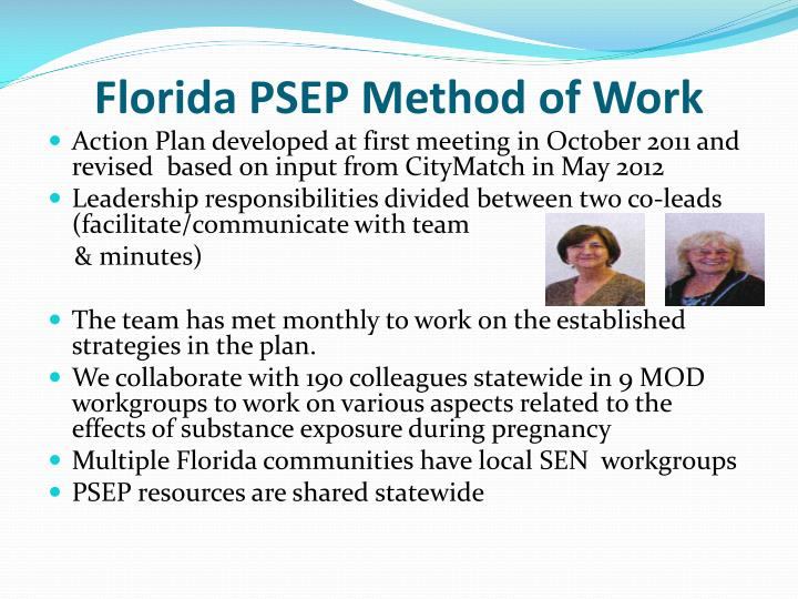 Florida PSEP Method of Work