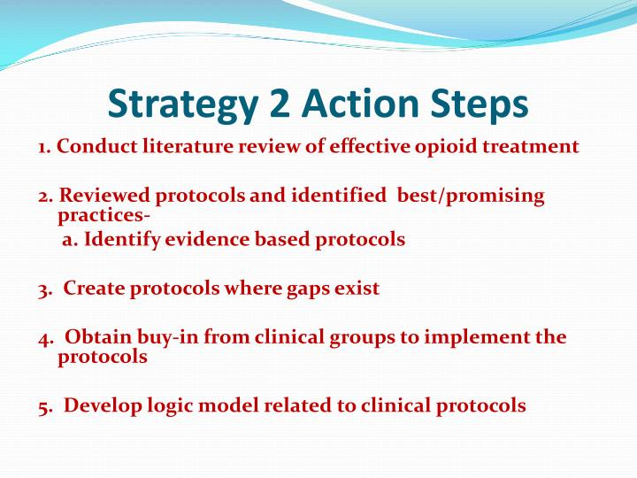 Strategy 2 Action Steps