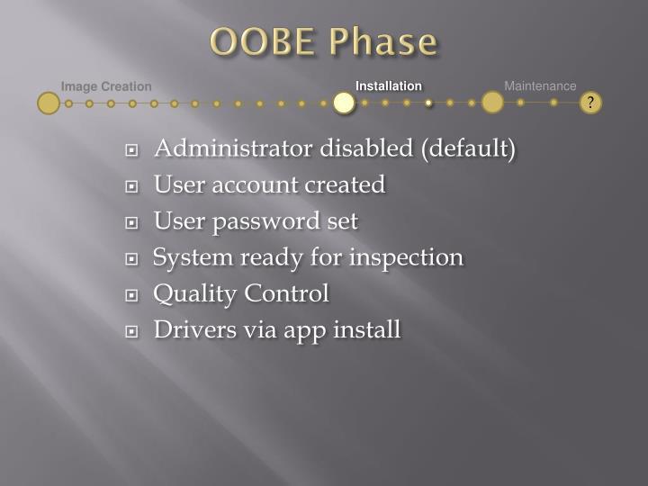 OOBE Phase