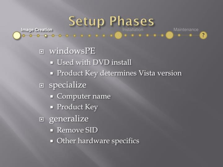 Setup Phases
