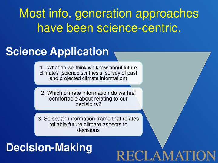 Most info. generation approaches