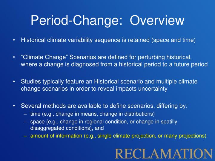 Period-Change:  Overview