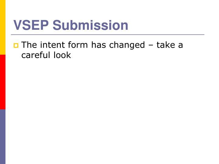 VSEP Submission