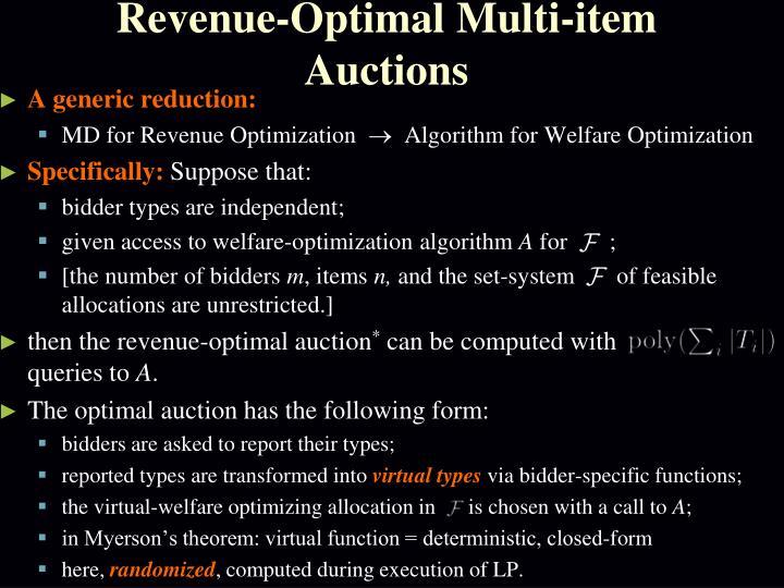 Revenue-Optimal Multi-