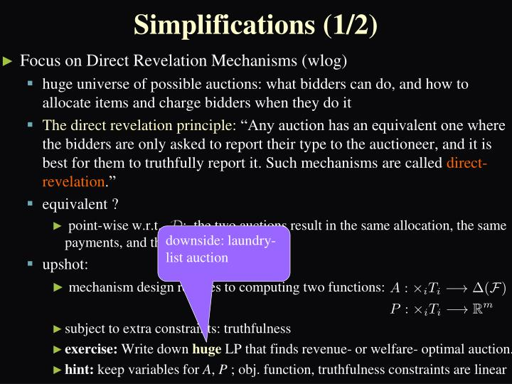 Simplifications (1/2)