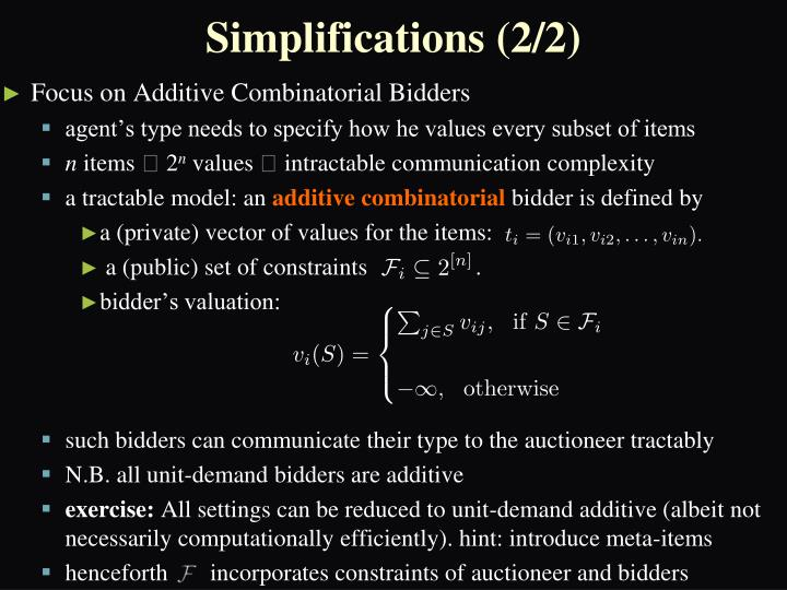 Simplifications (2/2)