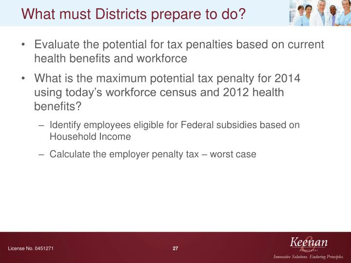 What must Districts prepare to do?