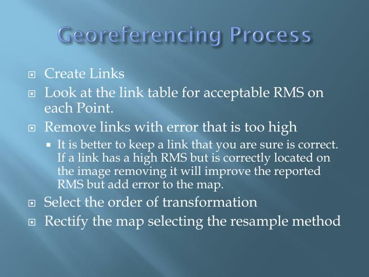 Georeferencing Process