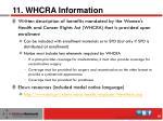 11 whcra information