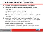 7 a number of hipaa disclosures