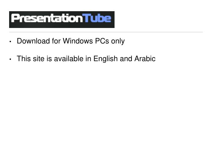 Download for Windows PCs only