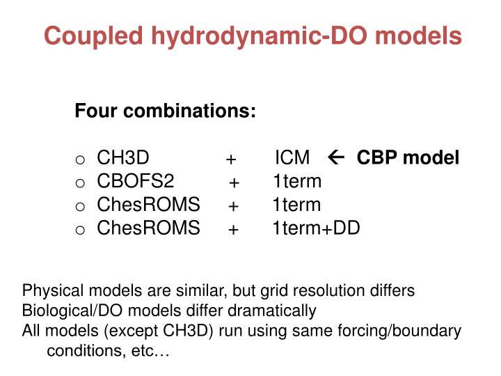 Coupled hydrodynamic-DO models